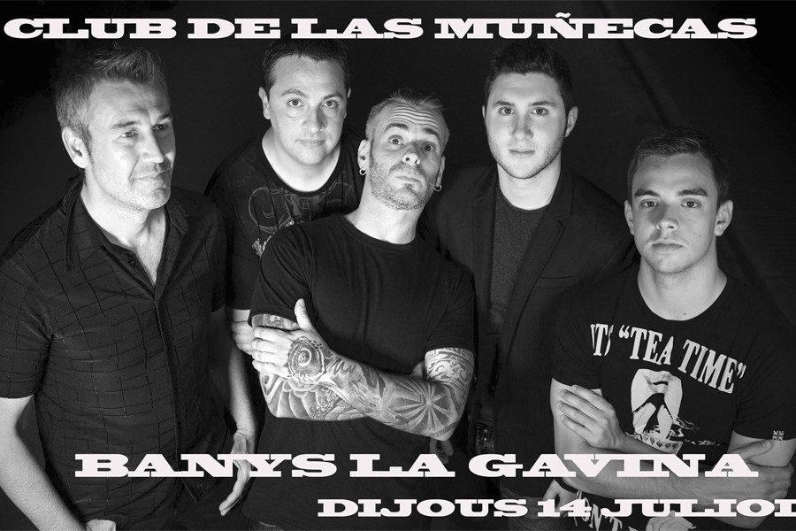 """CONCERT DE ROCK """"CLUB DE LAS MUÑECAS"""" 14 JULIOL"""